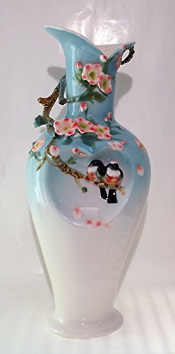 "Success Birds Vase porcelain 8"" x 8"" x 19"" Tall"