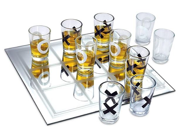 Tic-Tac-Toe Shot Glass Game Set