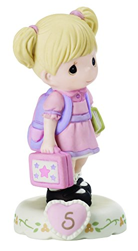 "Precious Moments 152011""Growing in Grace, Age 5"" Girl Bisque Porcelain Figurine Birthday Gifts, Blonde"