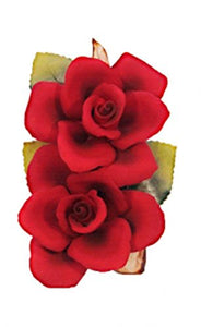 Roses (Red) Porcelain Flower Hand Made in Italy