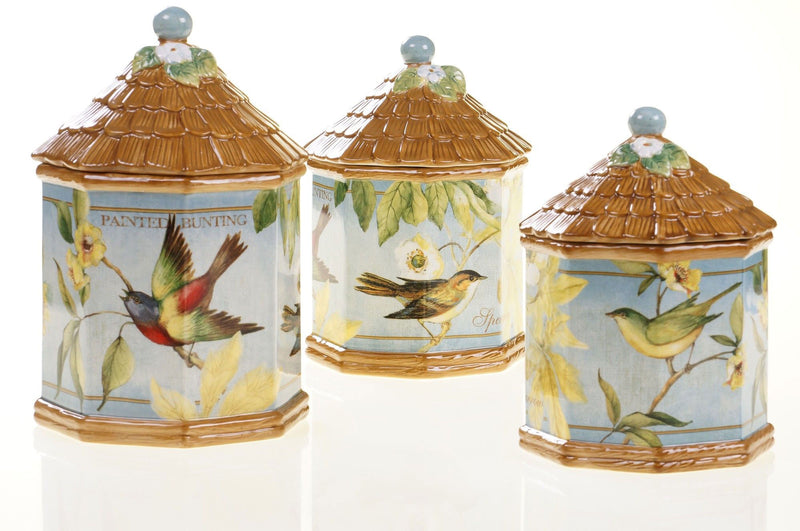 Birds Canister 3-Piece Set