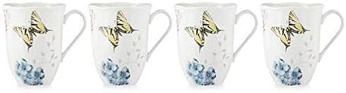 Lenox Butterfly Meadow Hydrangea 4-Piece Mug Set