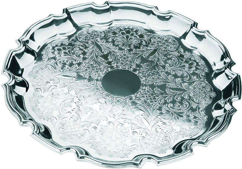 Queen Anne Serving Tray - Silver Plated Silver 24 cm Made in England