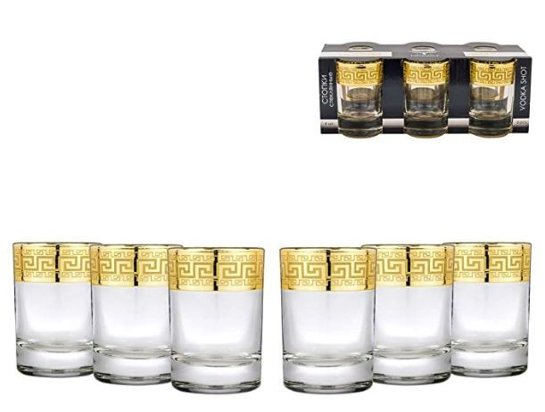 Joseph Sedgh Collection 1.5 Oz. Shot Glasses (6-Piece)