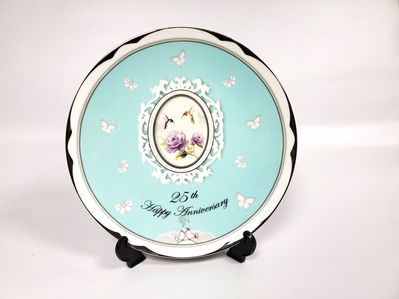 "25th Anniversary Plate 12"" Porcelain"