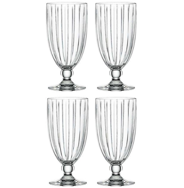 Spiegelau Milano crystal Iced Glass Set of 4 footed