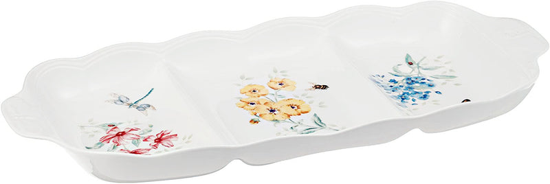 "Lenox Butterfly Meadow Divided Server by Lenox 17"" X 7.5"" X 1.6"""