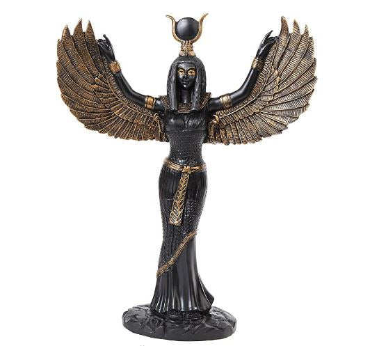 Egyptian Goddess Isis Statue 12""
