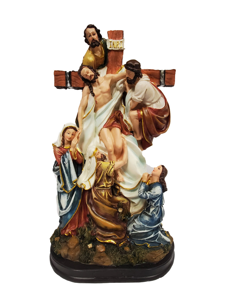 Jesus On The Cross Statue 13""