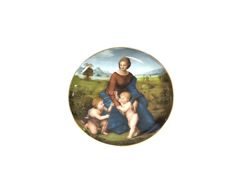 Victorian Decorative Madonna Plate 8""