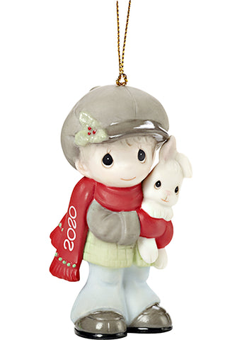 Every bunny loves a Christmas hug 2020 boy ornament 201041