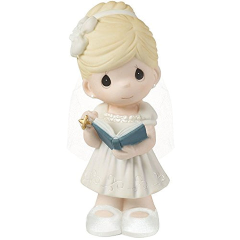 "Precious Moments, Communion Gifts, ""This is The Day The Lord Has Made"" Bisque Porcelain Girl Figurine, for Girl, 153006"
