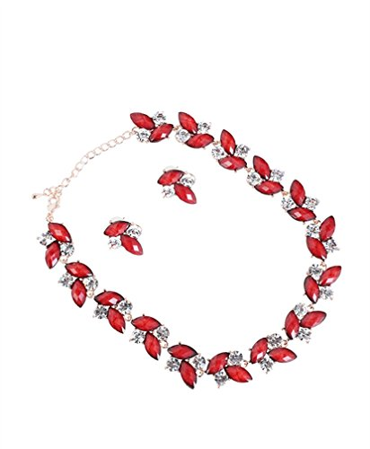 NECKLACE WITH EARINGS RED