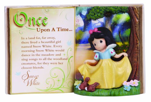 "Precious Moments 134406 Disney Showcase Collection,""Storybook Snow White"", Resin Figurine"