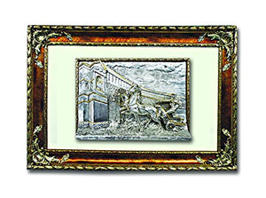 Silver Gladiator Art in a Wooden Frame