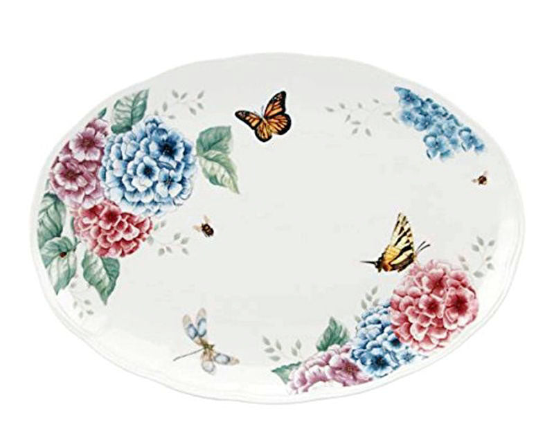 "Butterfly meadow Platter 16"" Oval 40.64cm #841009"