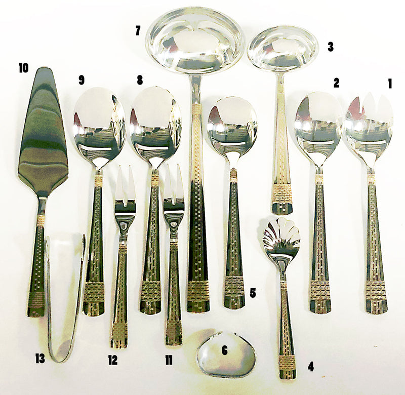 FLATWARE 78 PIECE SET SERVICE FOR 12 PEOPLE 18/10 STAINLESS STEEL