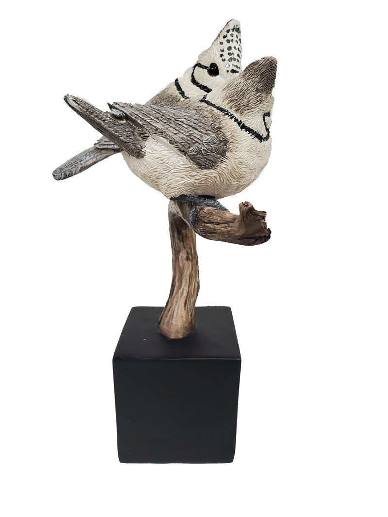Crested Tit Bird Figurine 10""