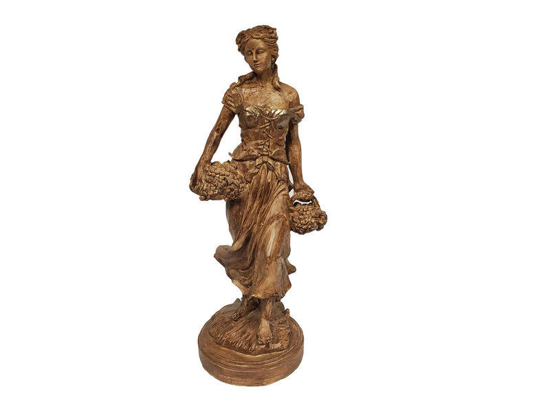 "Female Collecting Flowers Statue ""Gabriella"" 16"""