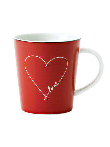 Love Heart Mug Red By Ellen DeGeneres 475ml