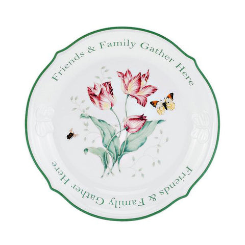 "Butterfly Meadow Platter 12"" Round (Friends & Family Gather Here)"