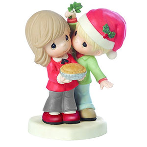Precious Moments 161026, Merry Kissmas, Sweetie Pie, Bisque Porcelain Figurine