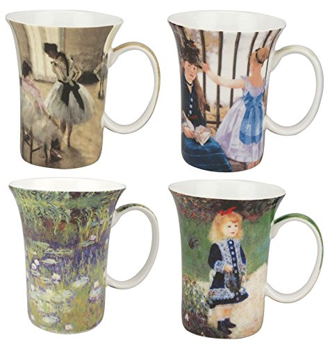 McIntosh Impressionists 4 Mugs, Multicolor
