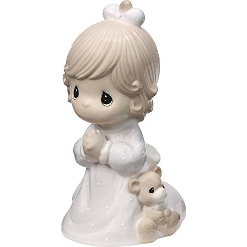 "Precious Moments Girl Praying ""Jesus Loves Me"" LED Porcelain Night Light 185032"