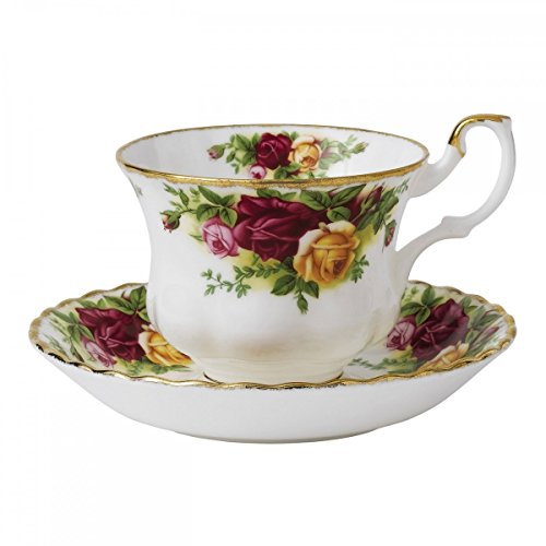 Old Country Roses Tea Cup and Saucer Bone china
