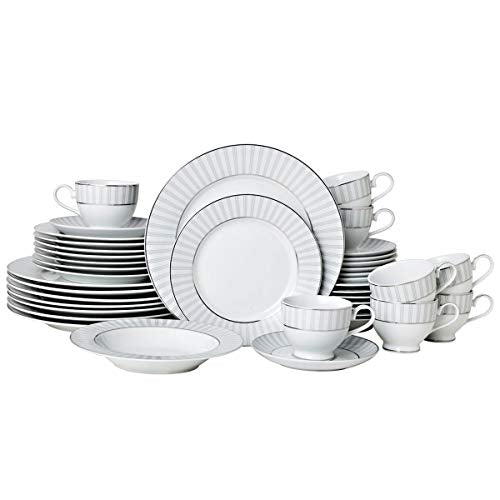 Mikasa Adrian Grey 40 Piece DINNERWARE Set Service for 8