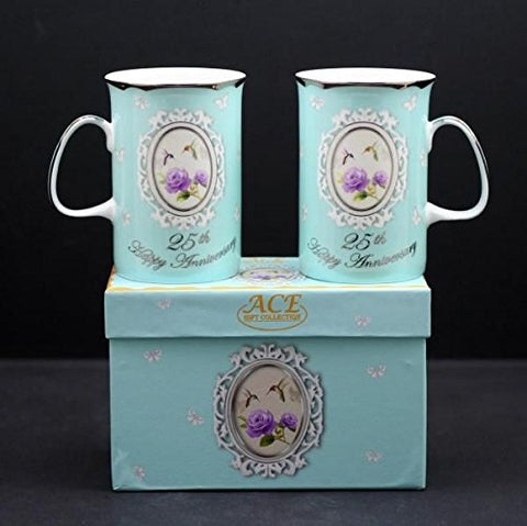 25th Anniversary Mugs Set of 2