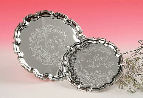 Queen Anne- Large Happy Anniversary Tray