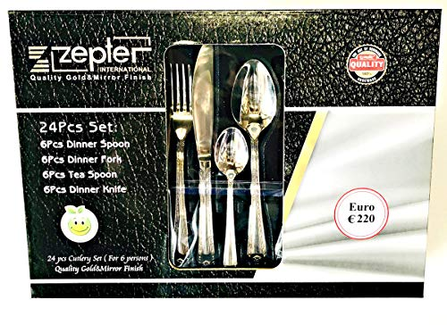 Zepter Versalion Cutlery Silver 24 Piece Set 18/10 Stainless Steel Service for 6 People
