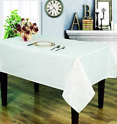 Table Cloth Jacquard White (52X70)