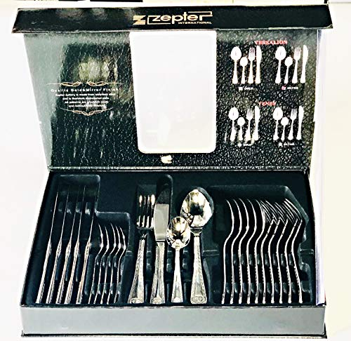 Zepter Versalion Cutlery Gold 24 Piece Set 18/10 Stainless Steel Service for 6 People