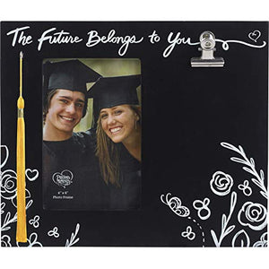 Precious Moments Future Belongs to You 4x6 Graduation Tassel Hook and Keepsake Clip 183435 Photo Frame, One Size, Multicolor