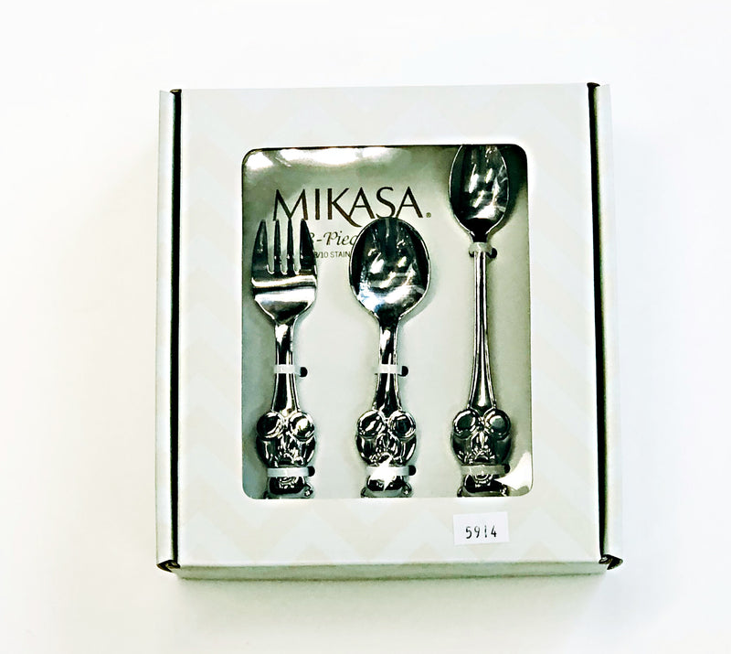 Mikasa Theodore 3 Piece Baby Feeding Spoon Set 18/10 Stainless Steel
