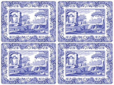 Pimpernel - Spode Blue Italian Large Placemats Set Of 4