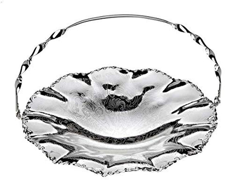 Queen Anne – Tarnish Resistant, Silver Plated Dessert Dish with Handle