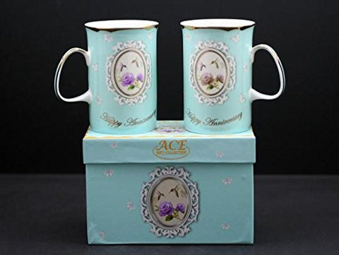 Happy Anniversary Mugs Set of 2