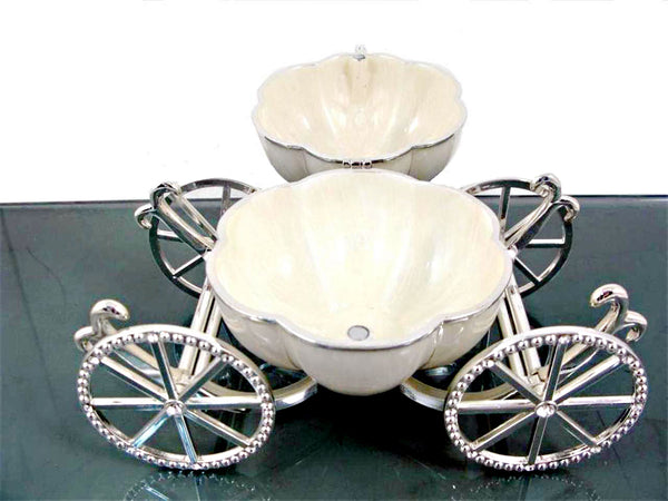 "Carriage Pumpkin Jewelry Box 6.5"" with Crystals"