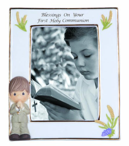 Precious Moments Blessings on Your First Holy Communion Frame Boy Figurine