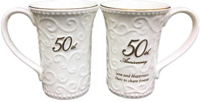 Homestead 50th Anniversary 2 mug Set 11oz by Hampstead Collection