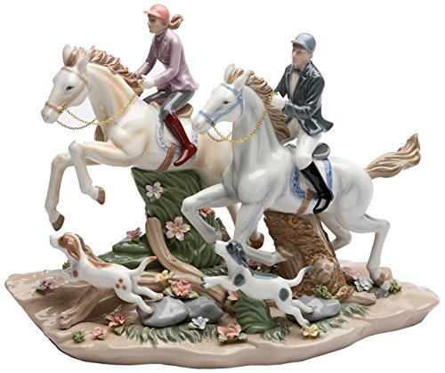 Cosmos Call of The Hunt Ceramic Horse Figurine, 13-1/4-Inch