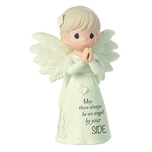 Precious Moments 161062 Religious Gifts, May There Always Be an Angel by Your Side, Bisque Porcelain Figurine