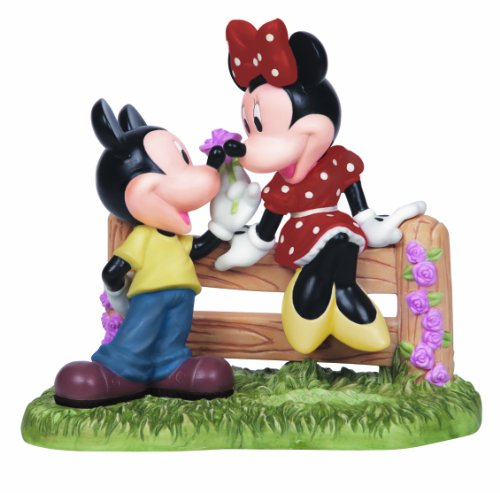 Precious Moments 141701 Disney Mickey and Minnie on Fence Figurine