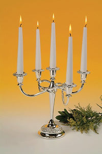 Queen Anne - Rose Candle Holder 5 Lights Scroll Arms