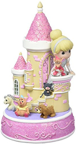 Precious Moments Disney Showcase Collection Cinderella Castle Music Box LED Lights Resin 163106