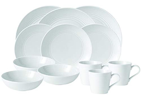 16-Piece Dinner Set Maze White by Royal Doulton/Gordon Ramsay