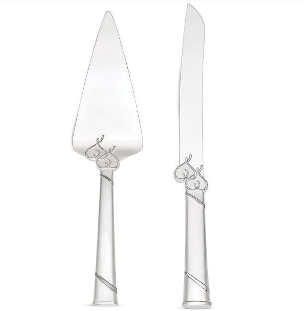 Lenox True Love Cake Knife and Server Dessert Set 2-Piece